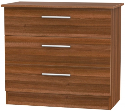 Contrast Noche Walnut 3 Drawer Chest