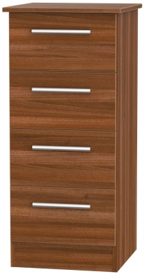 Contrast Noche Walnut 4 Drawer Tall Chest