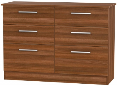 Contrast Noche Walnut 6 Drawer Midi Chest