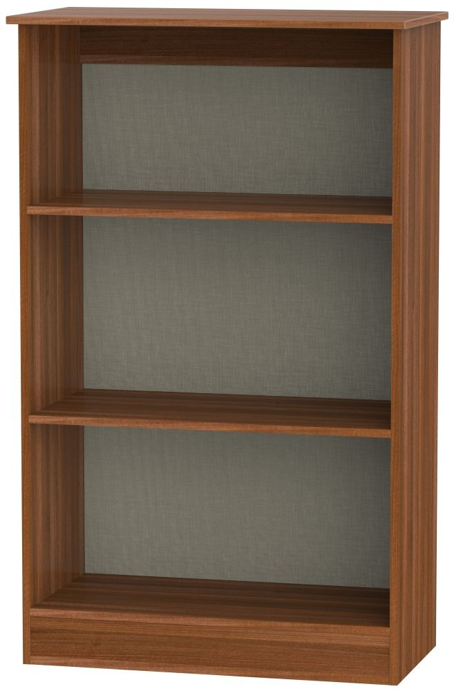 Contrast Noche Walnut Bookcase - 2 Shelves