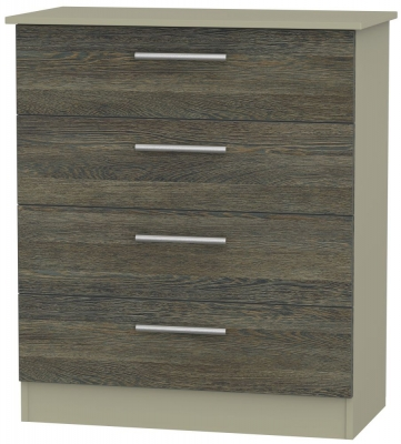 Contrast 4 Drawer Chest - Panga and Mushroom