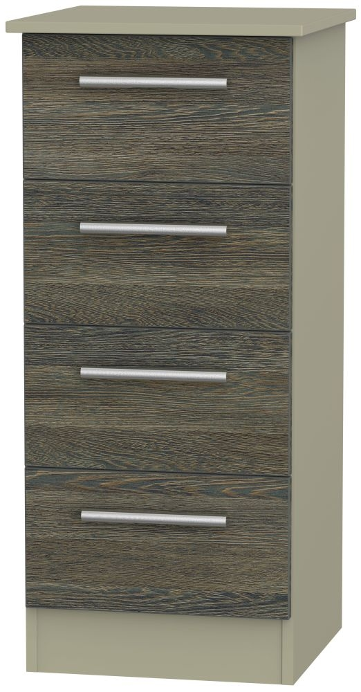 Contrast Panga and Mushroom Chest of Drawer - 4 Drawer Locker