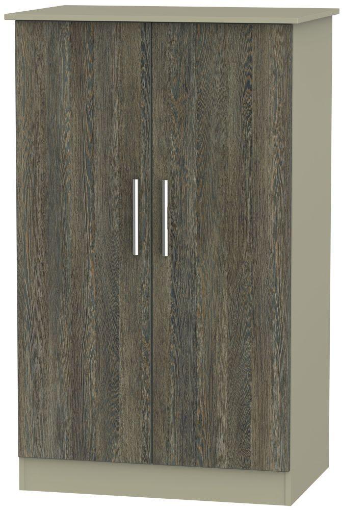 Contrast Panga and Mushroom Wardrobe - 2ft 6in Plain Midi