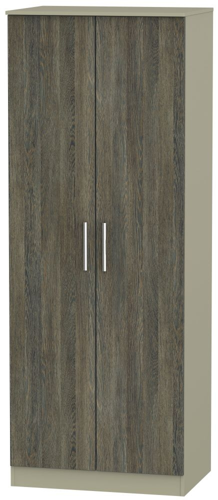 Contrast Panga and Mushroom Wardrobe - Tall 2ft 6in Plain