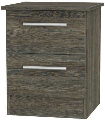 Contrast Panga Bedside Cabinet - 2 Drawer Locker