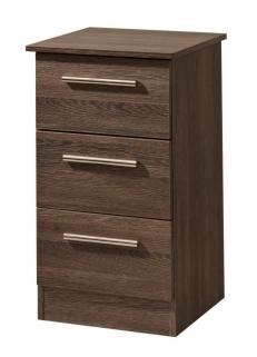 Contrast Panga Bedside Cabinet - 3 Drawer
