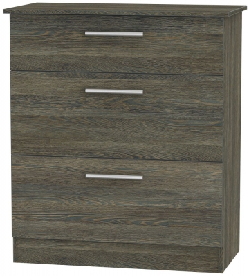Contrast Panga Chest of Drawer - 3 Drawer Deep