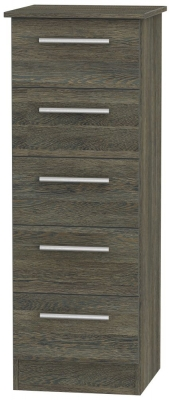 Contrast Panga Chest of Drawer - 5 Drawer Locker