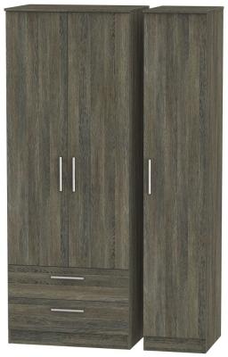 Contrast Panga Triple Wardrobe - Tall with 2 Drawer