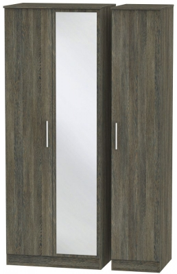 Contrast Panga 3 Door Mirror Wardrobe