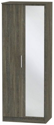 Contrast Panga 2 Door Mirror Wardrobe