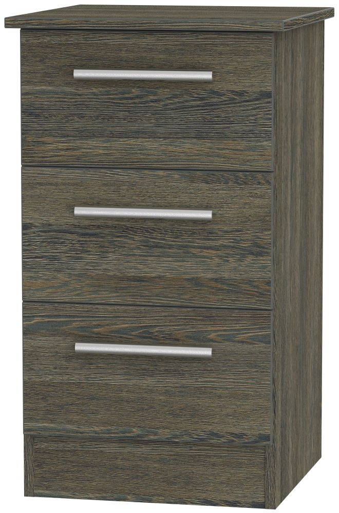 Contrast Panga Bedside Cabinet - 3 Drawer Locker
