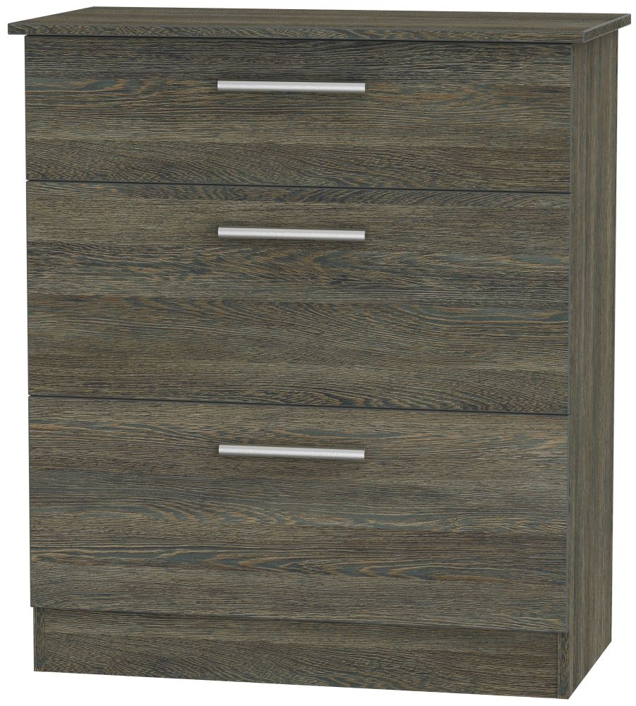 Contrast Panga 3 Drawer Deep Chest