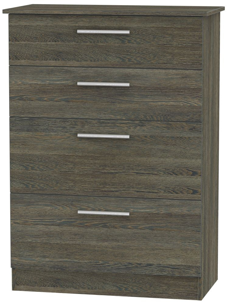 Contrast Panga Chest of Drawer - 4 Drawer Deep