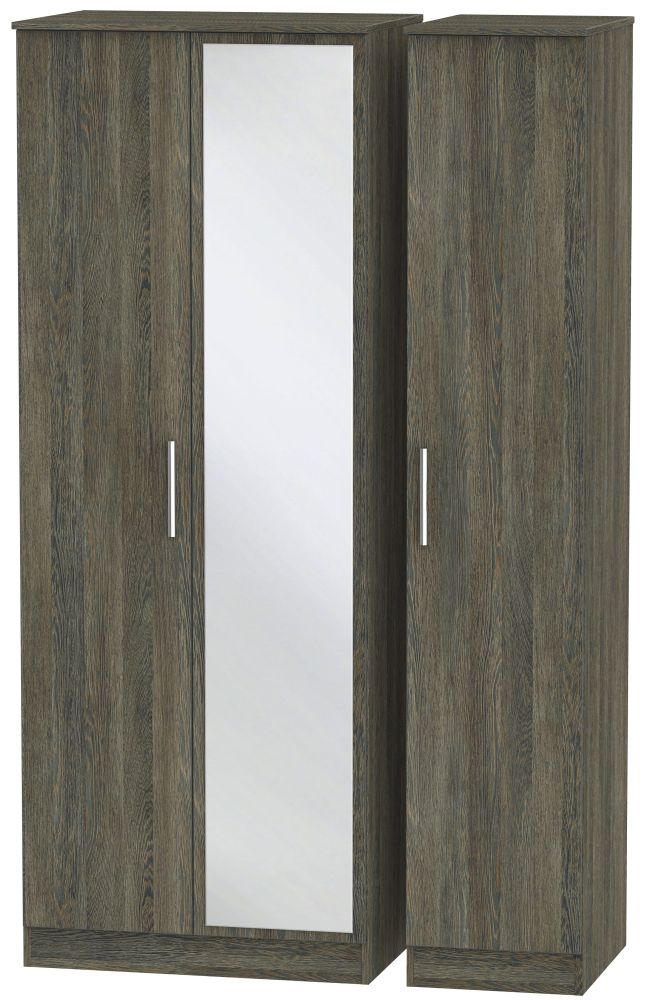 Contrast Panga Triple Wardrobe - Tall with Mirror