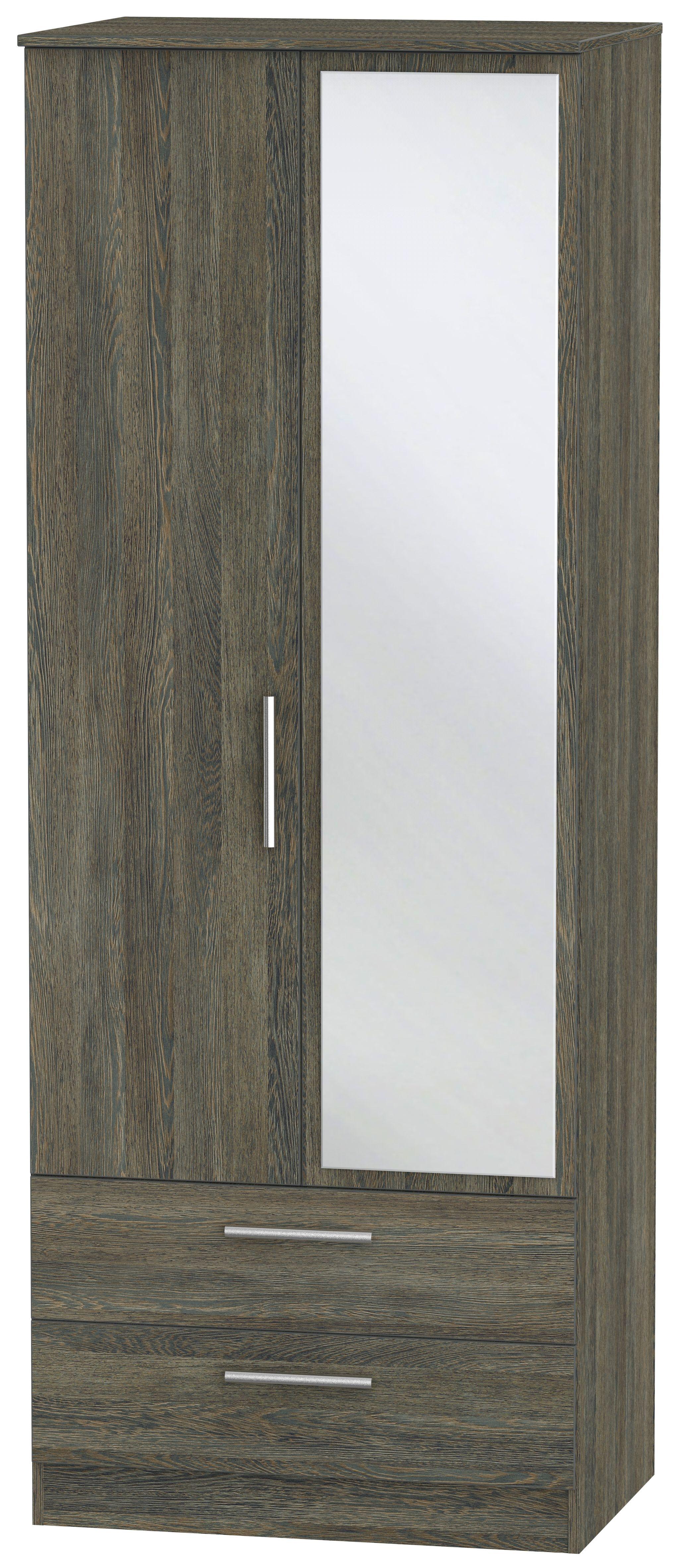 Contrast Panga 2 Door Combi Wardrobe