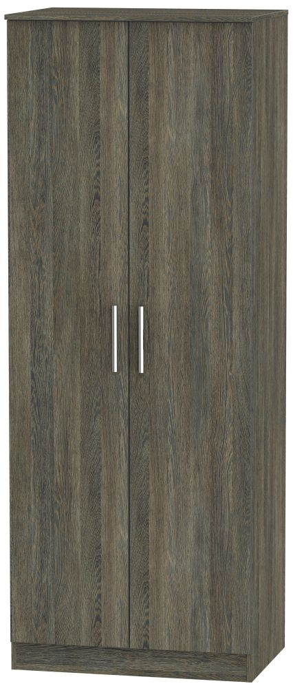 Contrast Panga 2 Door Tall Double Hanging Wardrobe