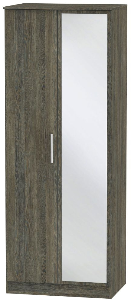 Contrast Panga Wardrobe - Tall 2ft 6in with Mirror