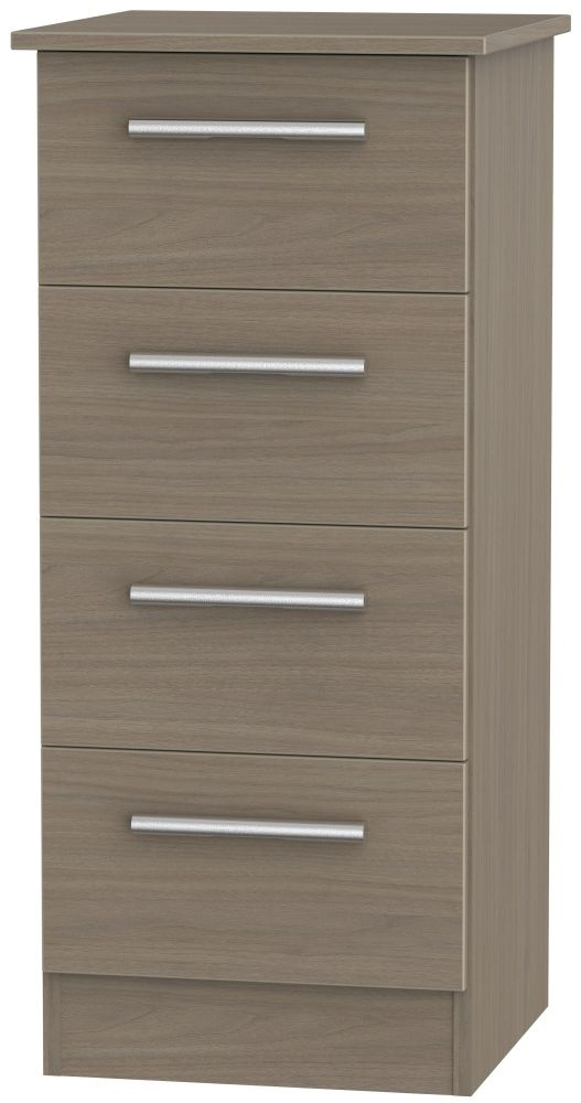 Contrast Toronto Walnut Chest of Drawer - 4 Drawer Locker
