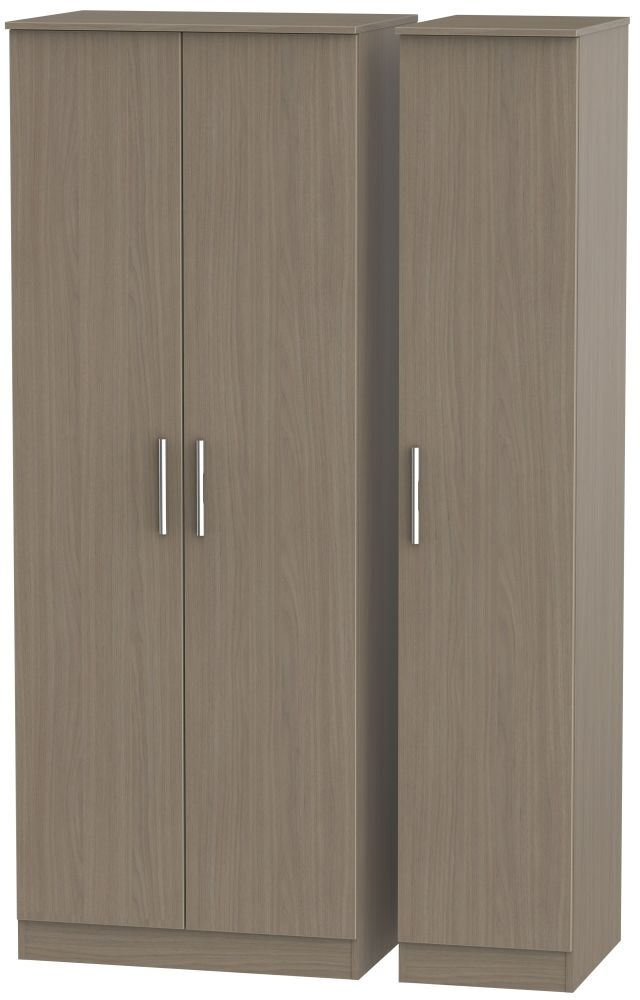 Contrast Toronto Walnut 3 Door Wardrobe