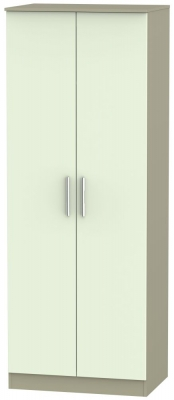 Contrast 2 Door Wardrobe - Vanilla and Mushroom