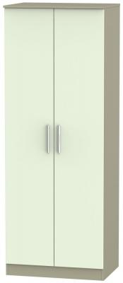 Contrast 2 Door Wardrobe - Vanilla and Mushroom