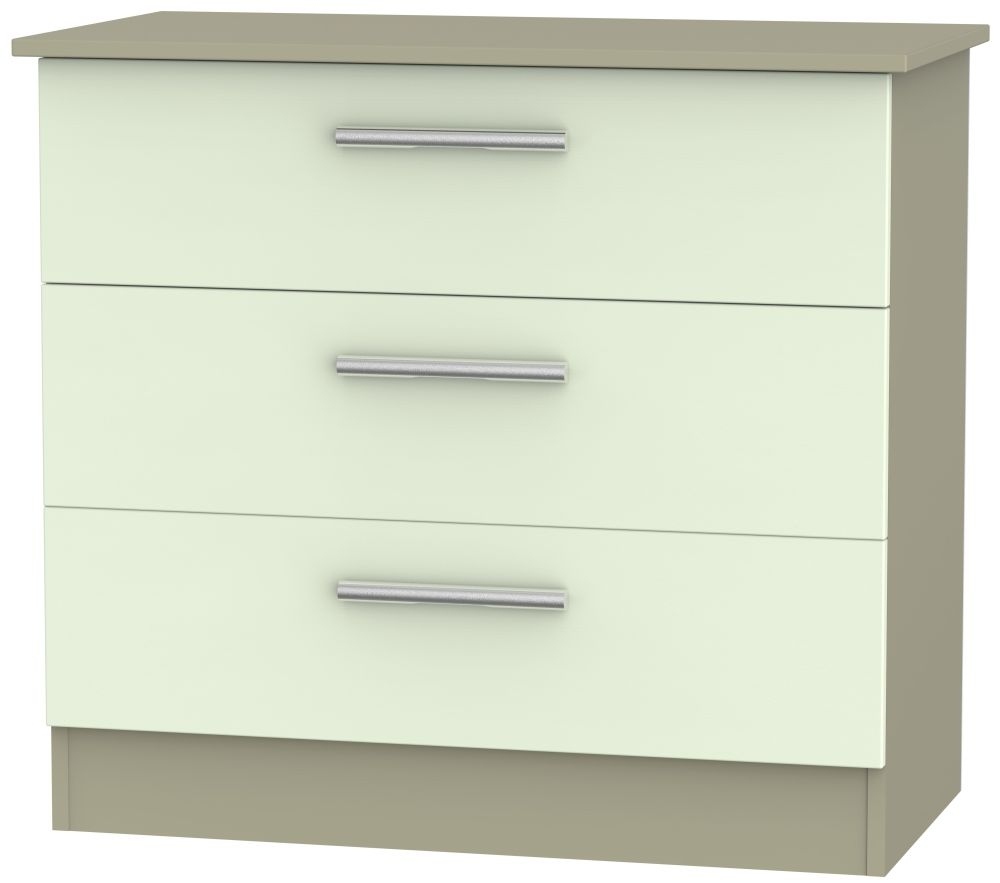 Contrast Vanilla and Mushroom 3 Drawer Chest
