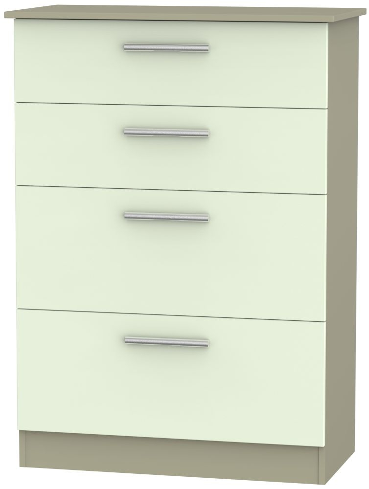 Contrast 4 Drawer Deep Chest - Vanilla and Mushroom