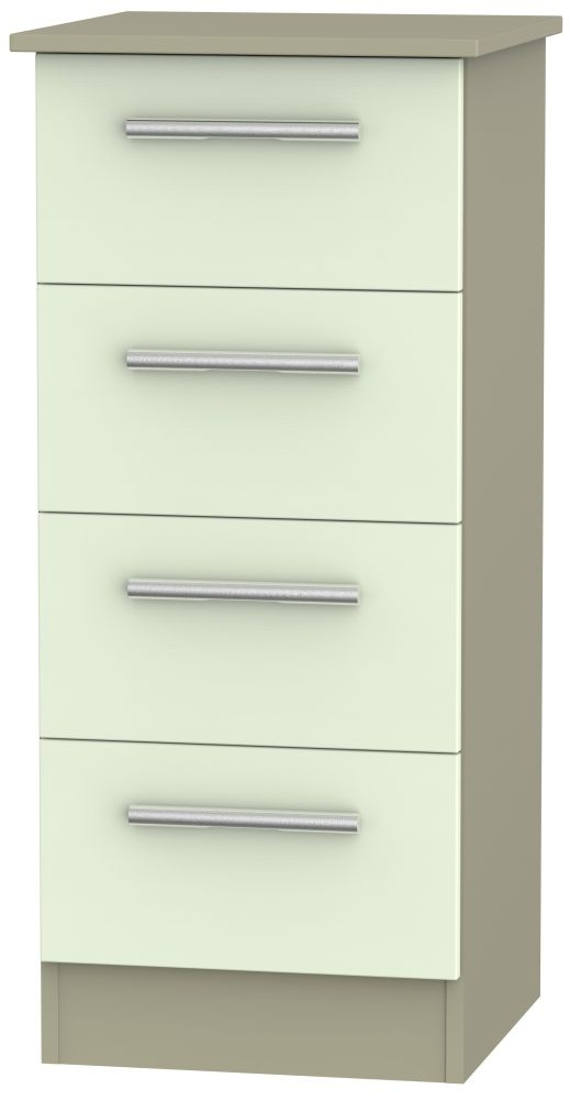 Contrast Vanilla and Mushroom Chest of Drawer - 4 Drawer Locker