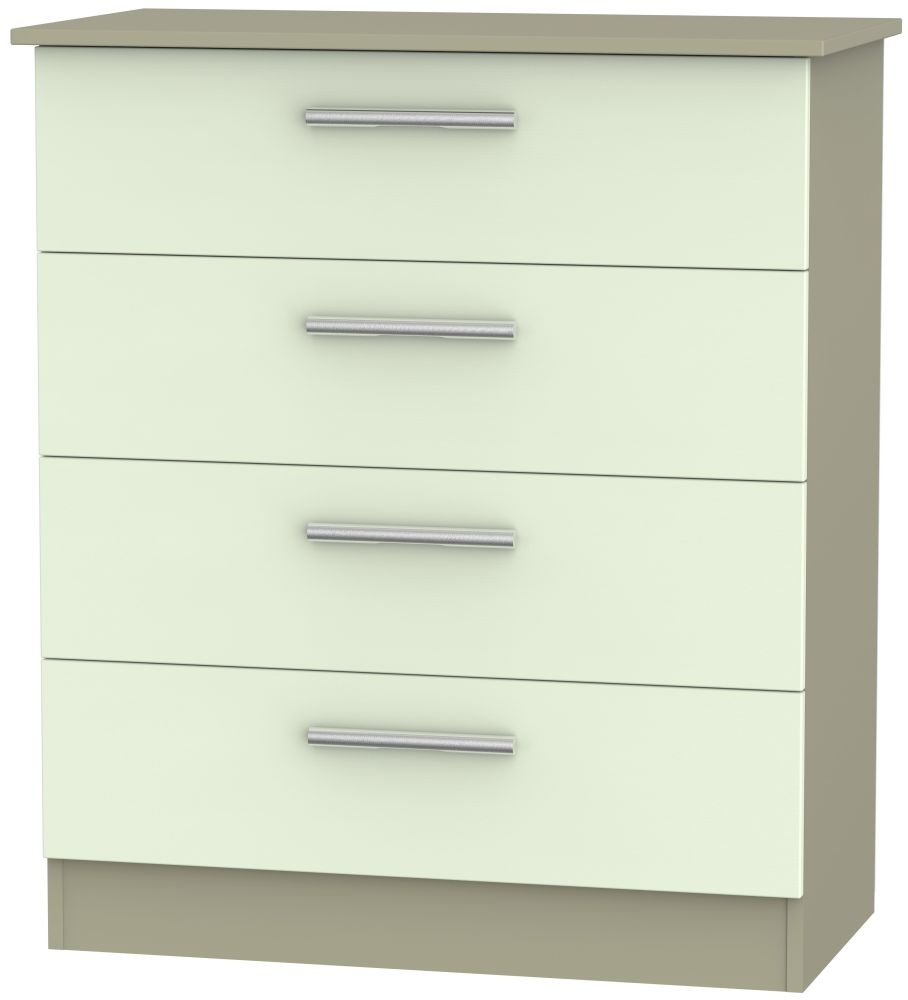 Contrast Vanilla and Mushroom 4 Drawer Chest