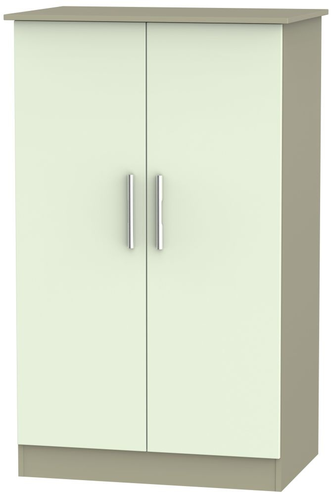 Contrast Vanilla and Mushroom Wardrobe - 2ft 6in Plain Midi