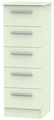 Contrast Vanilla 5 Drawer Tall Chest