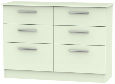 Contrast Vanilla 6 Drawer Midi Chest