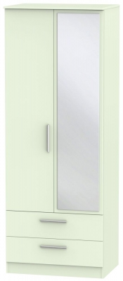 Contrast Vanilla 2 Door Combi Wardrobe