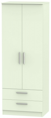 Contrast Vanilla 2 Door 2 Drawer Wardrobe