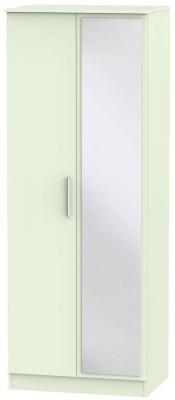 Contrast Vanilla 2 Door Mirror Wardrobe