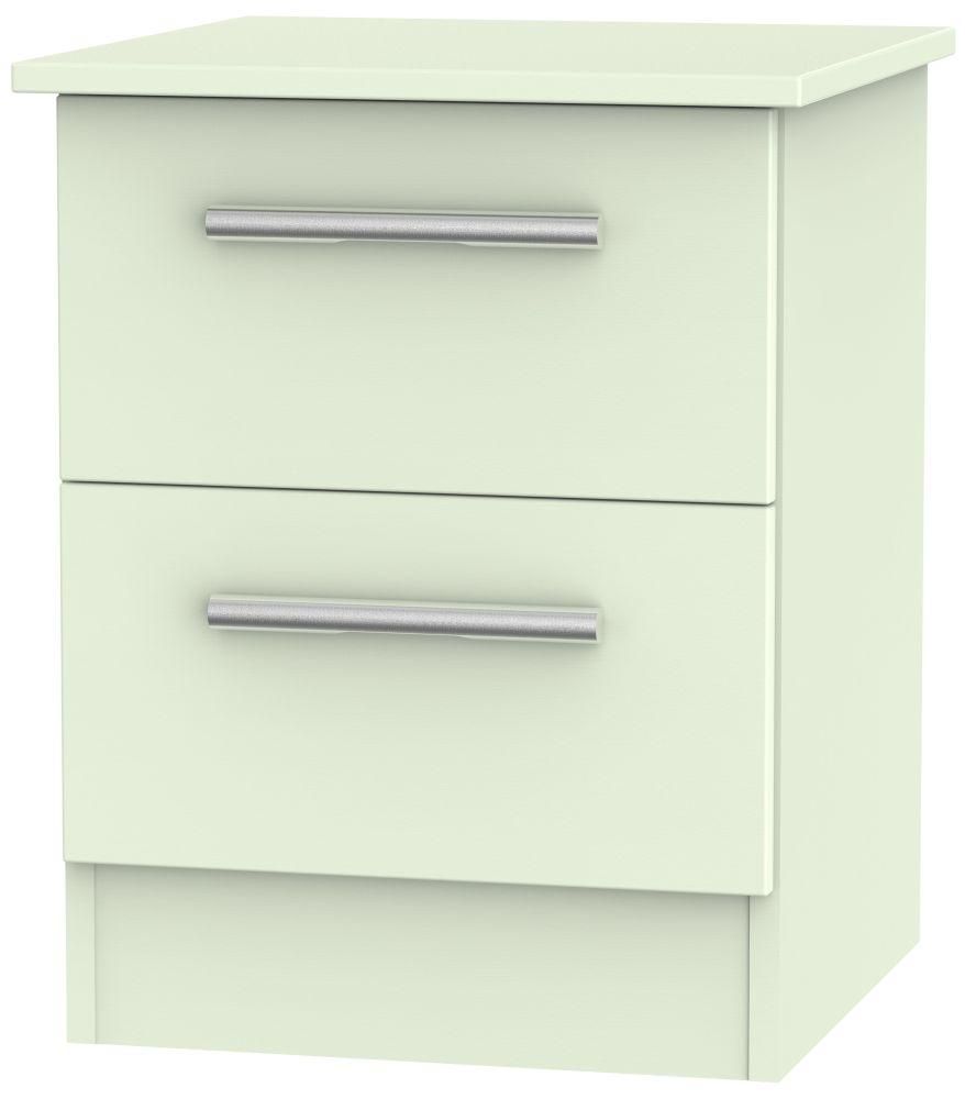 Contrast Vanilla 2 Drawer Locker Bedside Cabinet