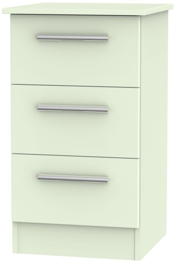 Contrast Vanilla 3 Drawer Locker Bedside Cabinet