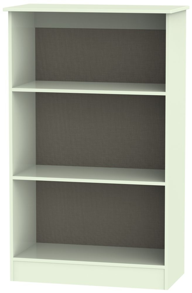 Contrast Vanilla Bookcase - 2 Shelves