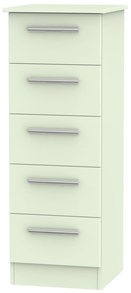 Contrast Vanilla Chest of Drawer - 5 Drawer Locker