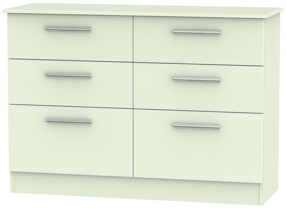 Contrast Vanilla Chest of Drawer - 6 Drawer Midi