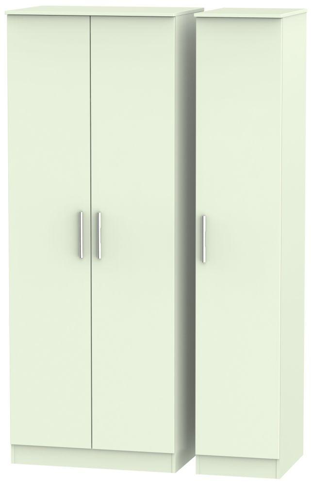 Contrast Vanilla Triple Wardrobe - Tall Plain