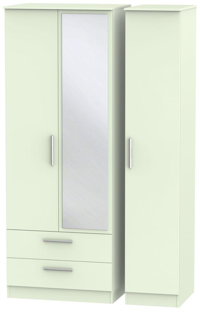 Contrast Vanilla 3 Door Combi Wardrobe