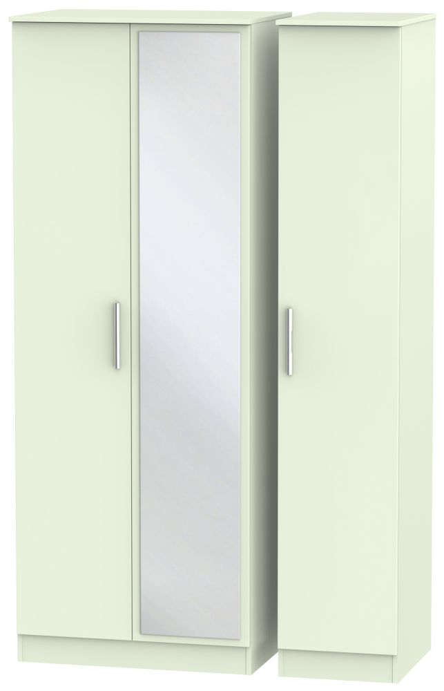 Contrast Vanilla 3 Door Mirror Wardrobe