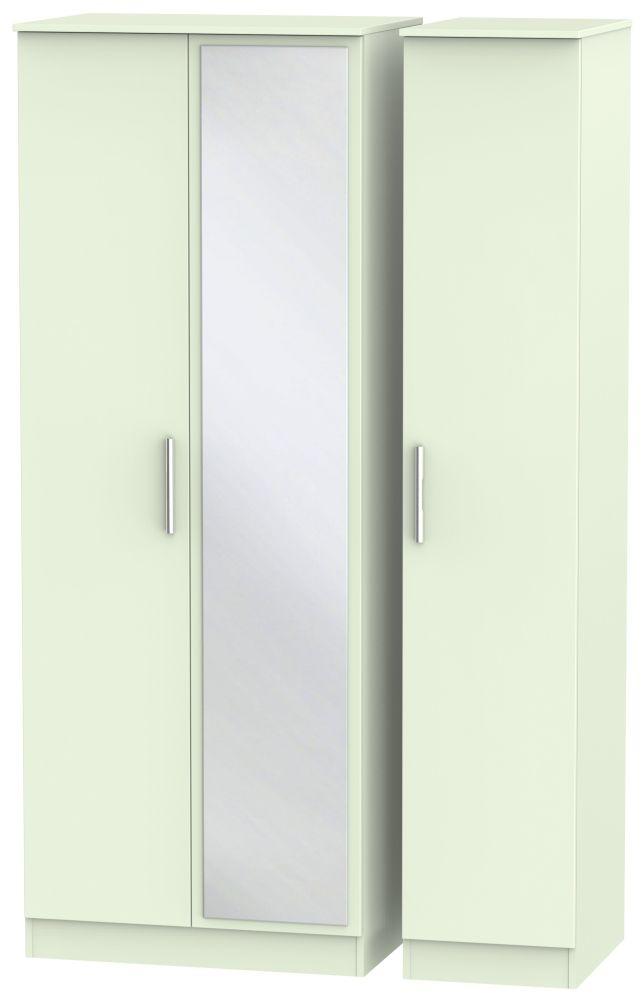 Contrast Vanilla 3 Door Tall Mirror Triple Wardrobe