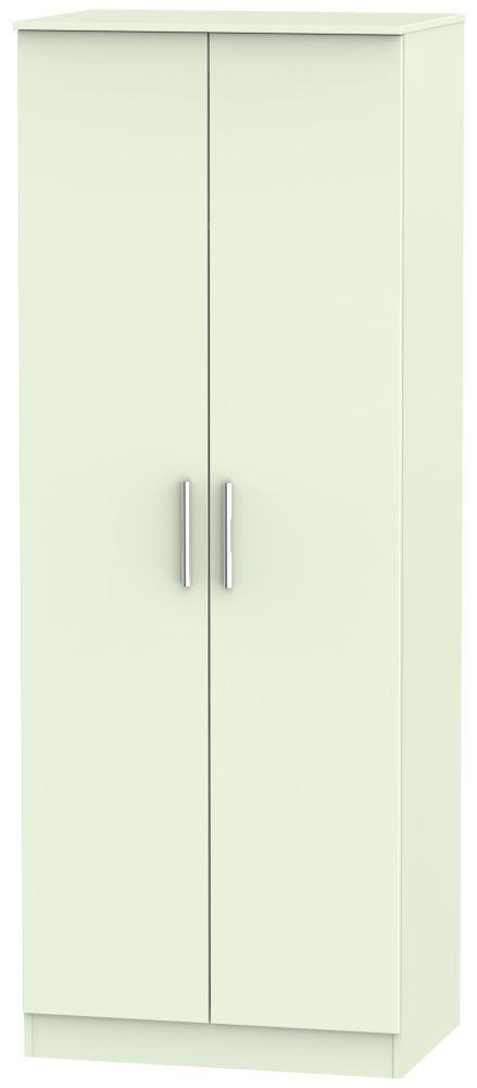 Contrast Vanilla 2 Door Tall Double Hanging Wardrobe