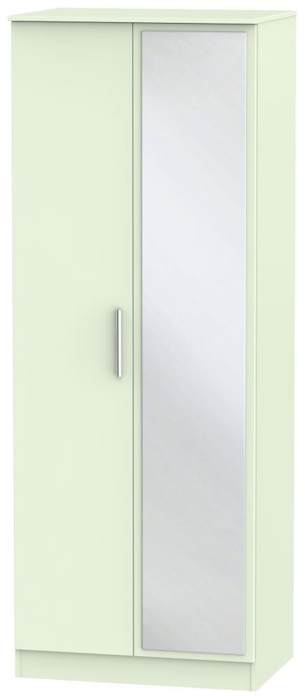 Contrast Vanilla 2 Door Tall Mirror Double Wardrobe