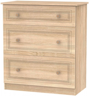 Corrib Bardolino Oak Chest of Drawer - 3 Drawer Deep