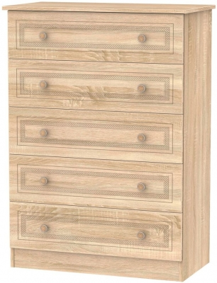 Corrib Bardolino Oak Chest of Drawer - 5 Drawer