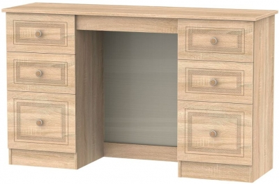 Corrib Bardolino Oak Dressing Table - Knee Hole Double Pedestal